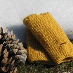Fingerless gloves - wrist warmer - Winter accessories - wool - mustard yellow