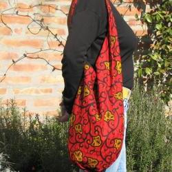 Knot bag - Red African fabric